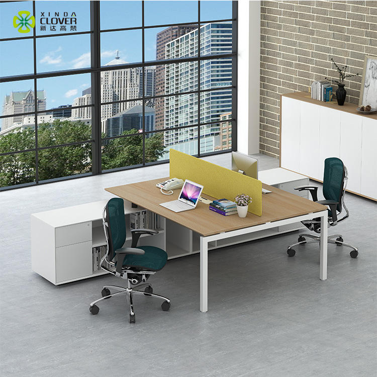 Commercial furniture double sided computer desk design 2 person office table