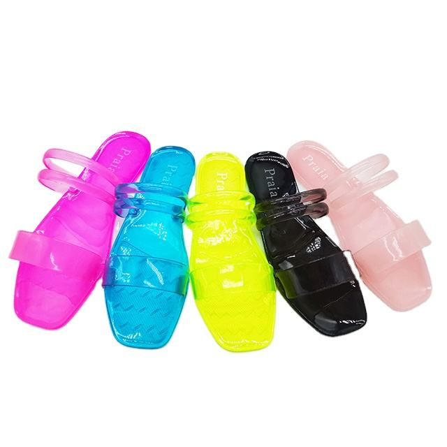 Cheap Hot Sell Beautiful Fashion Mix Colors Lady PVC Jelly Sandals Women Slippers