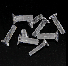 m6 m8 plastic nylon  transparent clear screws