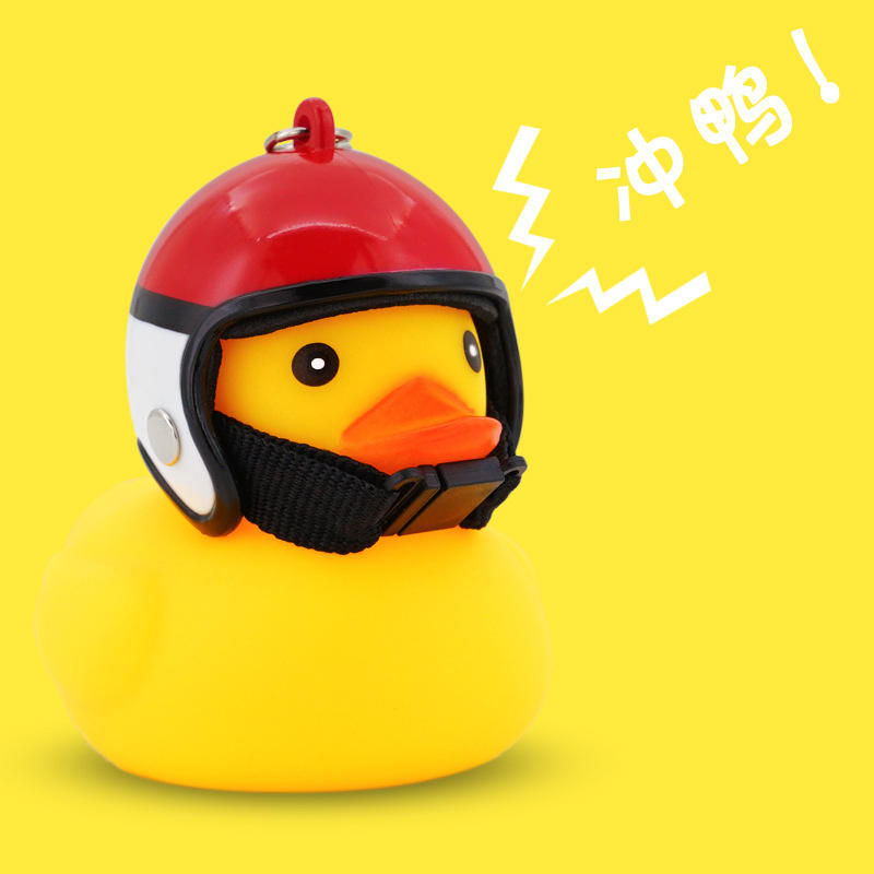 Hot Selling Promotion Gift led bike lights Rubber Duck Shape Led Bike Accessories Lights Bicycle Horn Bell lights