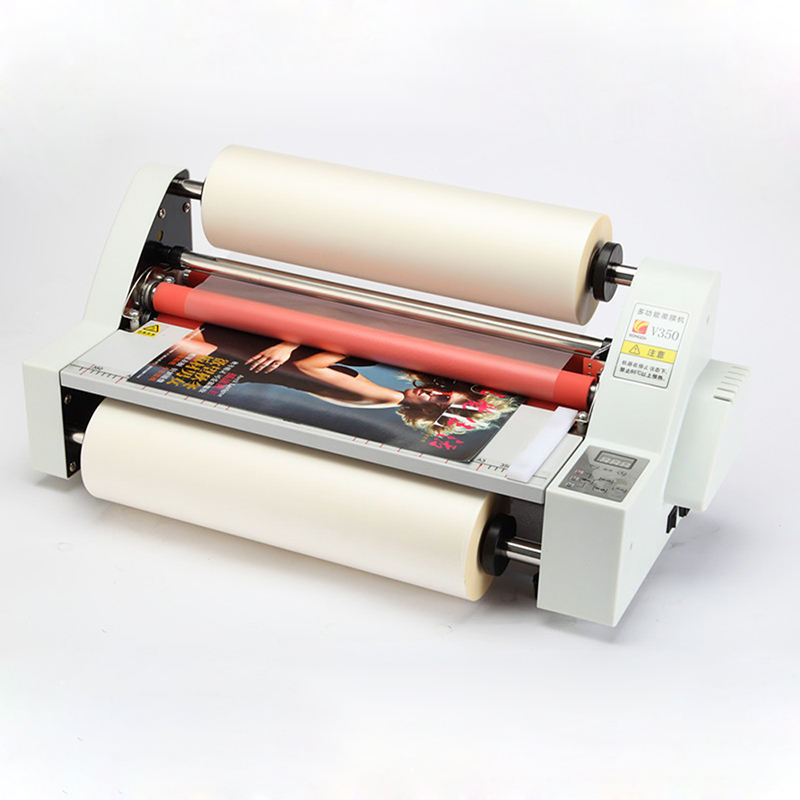 "110V 220V 13 ""V350 Lamineermachine Vier Rollers Koud Hot Laminator V350 Lamineermachine Hot Roll Lamineren machine"