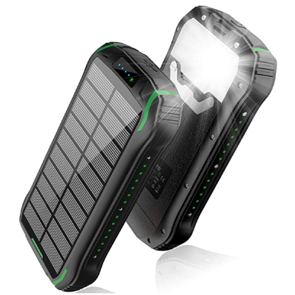 Ce Fcc Rohs Ip66 Waterdichte 26800Mah Mobiele Power Bank Portable Solar Charger 50000 Mah Phone Power Bank Met Draadloze opladen
