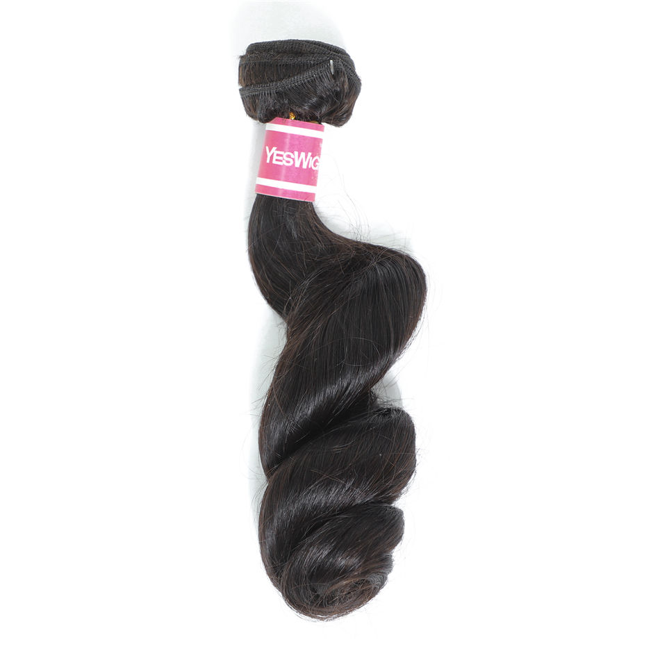 Yeswigs Loose Wave Human Hair Weaving Factory Sales Peruvian Young Girl Virgin Cuticle Aligned Spring Loose Curls Extension Hair