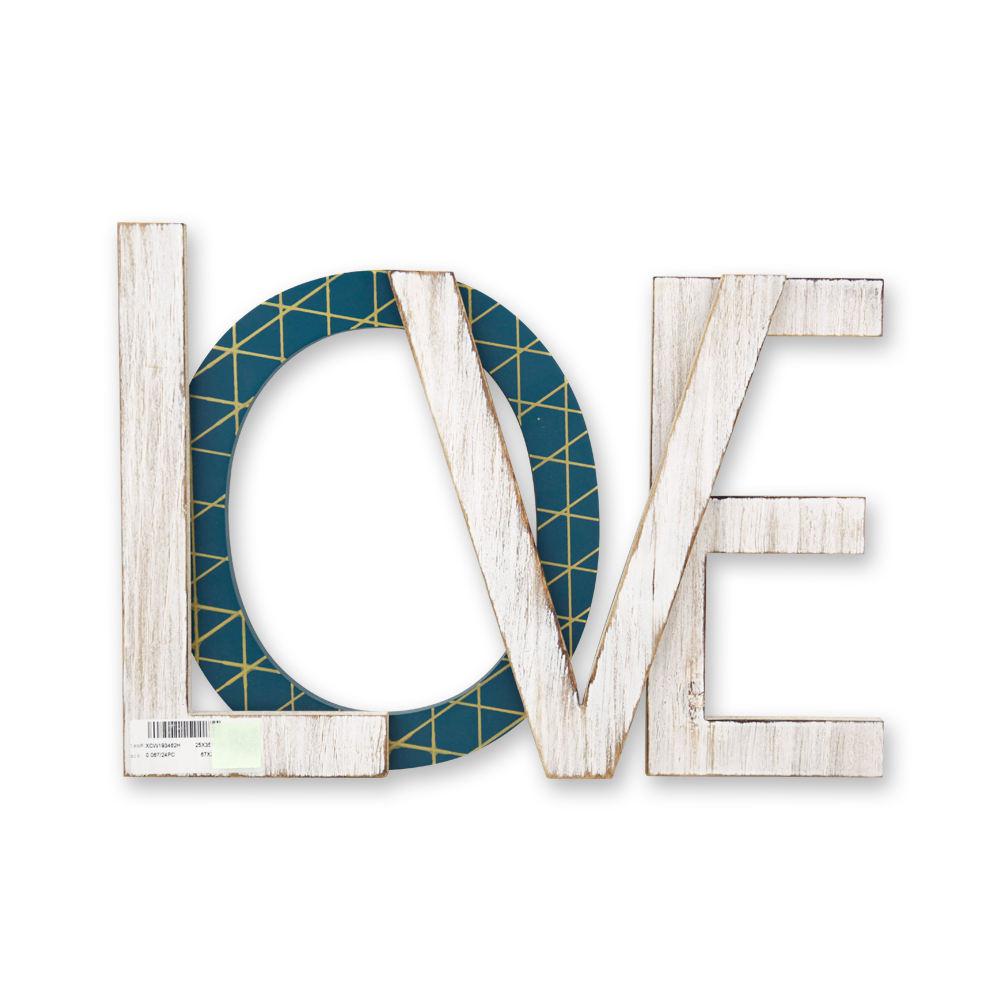 XINGCHENG Custom Factory Rustico Decorativo Mdf Alfabeto <span class=keywords><strong>Amore</strong></span> lettere Placca A Muro Per La Decorazione Domestica di Legno Bordo