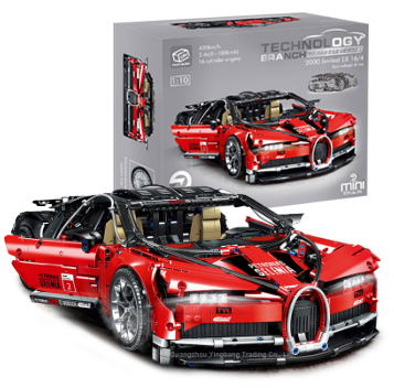 [Amazon Hot]3618 Pcs 1:10 Legoinglys Technic Legoingly Technische Simulatie Sportwagen Bugatties Bouwstenen Bricks Sets