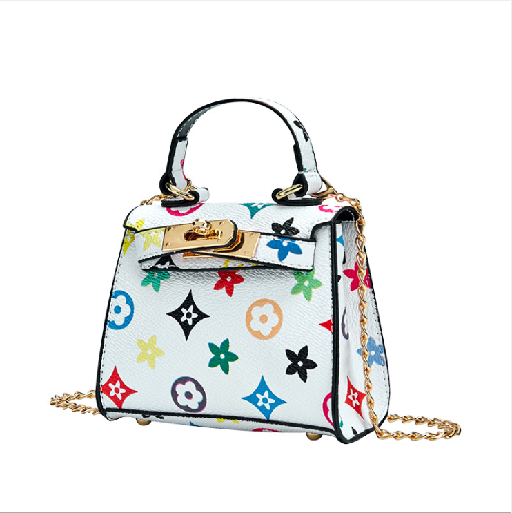 The new 2020 fashion classic print kids purse mini handbag