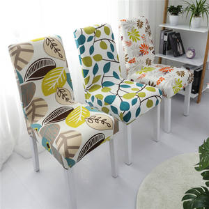 Wholesale Cheap China Stretch Printing Spandex Half Back Chair Cover For Home And Hotel