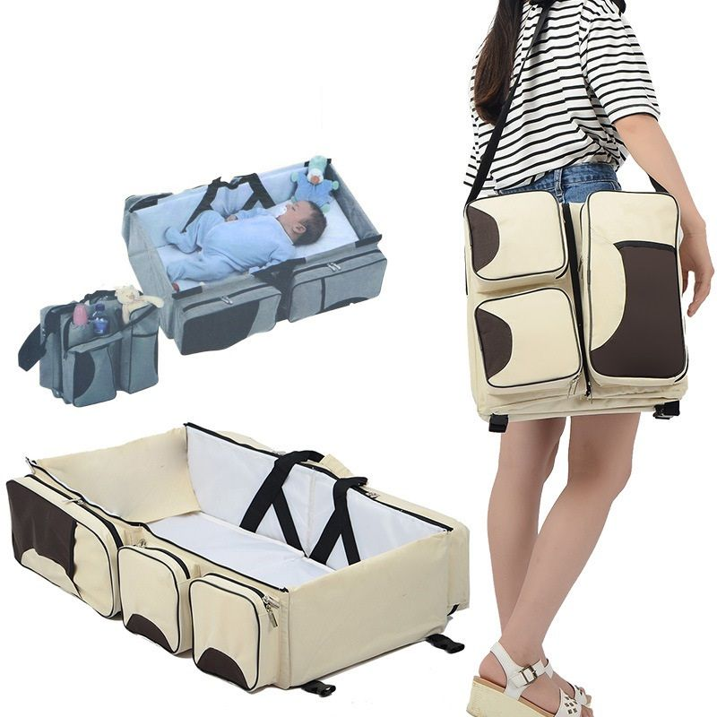 FREE SAMPLE Wholesale Portable Travel Bassinet Bed and Changing Station In Bag Bed Foldable Baby Cot Bag 3 in 1 Baby Diaper Bag