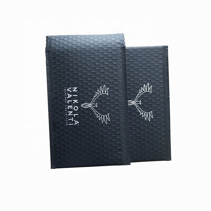 Black Metallic Film Material Padded Envelope and Customized Size Bubble Mailers
