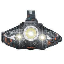 Rechargeable Head Torches light USB L2 LED Flash Head Lamps High Power Zoom Headlamp for Hunting