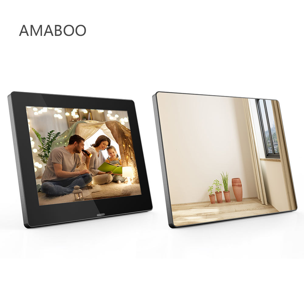 8-inch Floating Magic Mirror LCD Digital Photo Frame Make Up Mirror Playing Video Pictures
