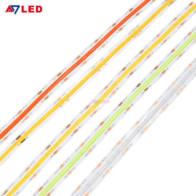 High Density LED Tape Light Tira De Luz LED 12V 24V White Red Green Blue Dot Free Flip Chip COB LED Strip Lights
