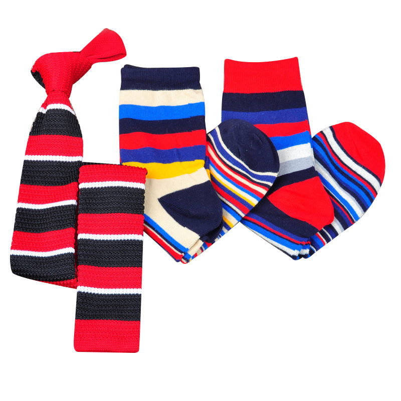 custom matching socks and neck tie for men