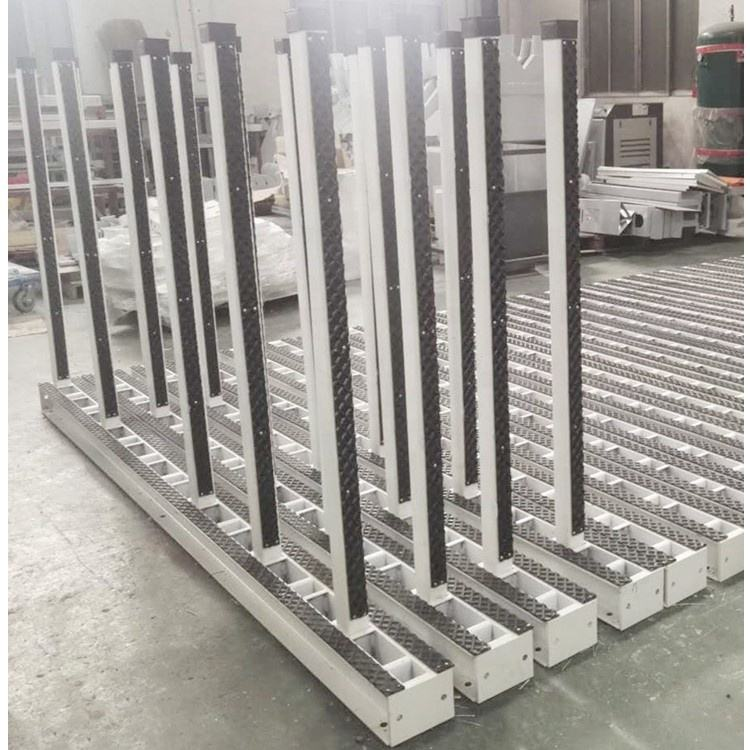 White granite steel slab rack warehouse stone display rack