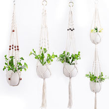 Handmade Cotton Indoor Wall Planter Decorative Flower Pot Holder Boho Macrame Plant Hangers Home Decoration