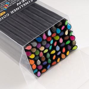 60pack drawing color set water color non leakage fineliner art markers for bingo game