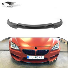 Fiberglass unpainted Front Lip Spoiler For BMW 6 series F06 F12 F13 M6 2014up
