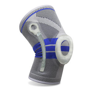 Best Seller Nylon Knee Protector Sports Knee Support Compression Sleeve Knee Brace with Side Stabilizers   Patella Gel Pads