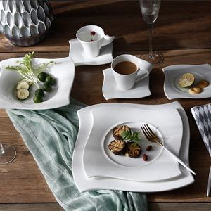 P&T Ware Square shape dinner set High quality bone china dinnerware