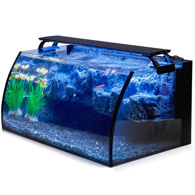 Hygger 8 Gallon LED Glass Aquarium水槽など7W Power Filter Pump、18W Colored led Light、水族館の魚タンク