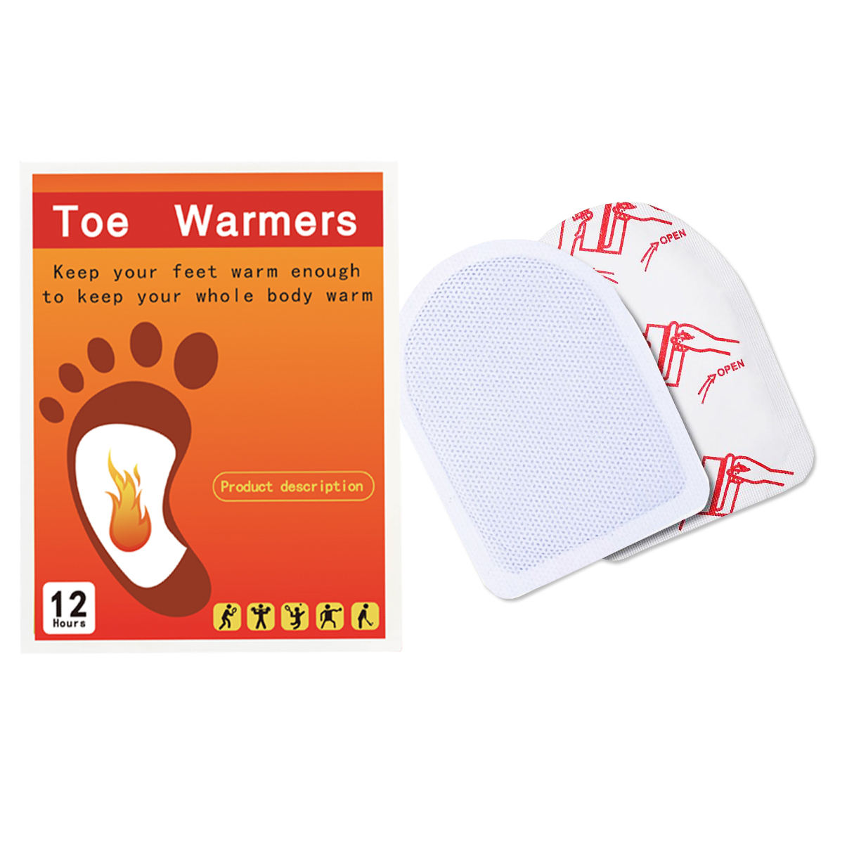 Toe warmer heating insole heat patch high quality foot warm pad adhesive heat pad for foot