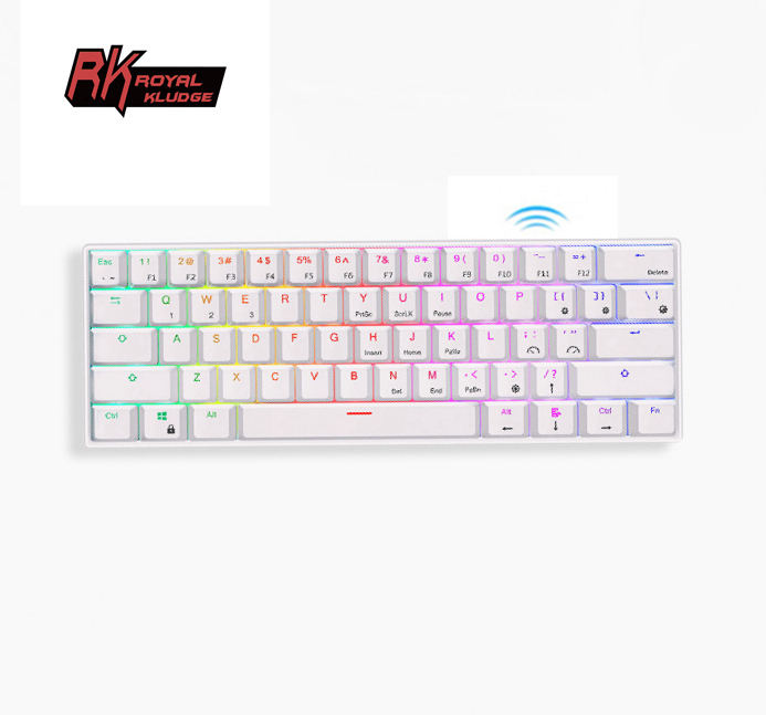 Pabrik Langsung 84 Tombol Keyboard Mekanis 61 Tombol Royal Kludge RK61 RK818 Laptop Gaming 60% Keyboard Teclado Clavio Casing RK 61