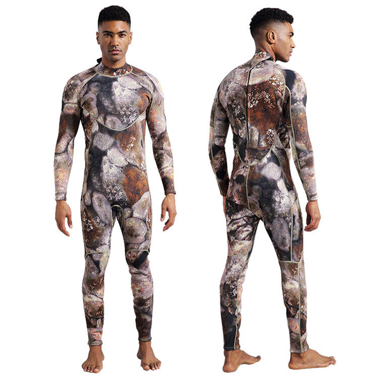 2/1 7/8 Wetsuit Information Meaning Camouflage X Size Design Swim Suit Diving Clothes A 8MM 9 Pin Wetsuit To Surf