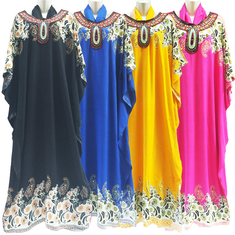Hot Selling Women Islamic Prayer Lady Robe Arabic Robe Hijab Printed Short Sleeve Dress Muslim Prayer Clothes for women