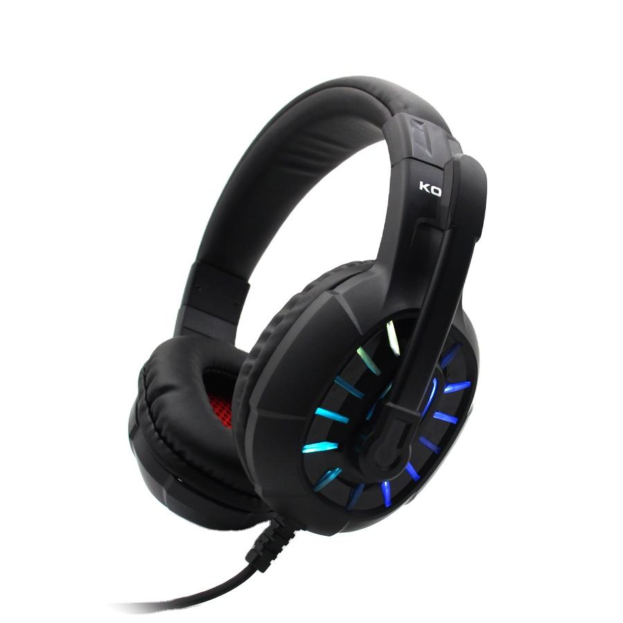 High Quality CE in stock RGB Lighting gaming headset with logo Wired Headphone with jack gamer Audit