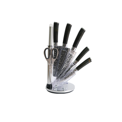Professional Grade Stainless Steel Knife Set with Hammered Finishing