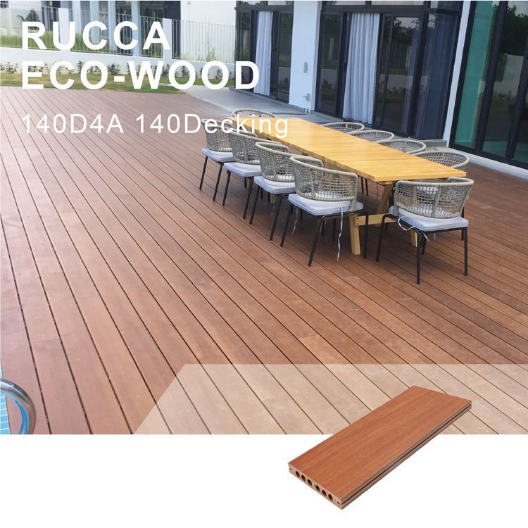 For Outdoor Plastic Wood Decking Outside Floor WPC Deck Flooring Wood Plastic Composite Decking From China Manufacture Garden Outdoor