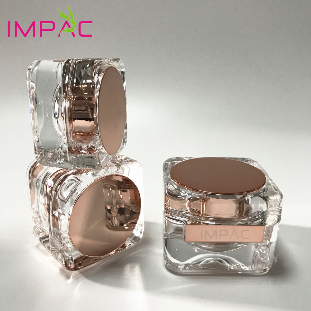 50g luxury fancy face cream square acrylic cosmetic jars