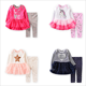 Spring and Autumn pure cotton baby girl two-pieces clothes set