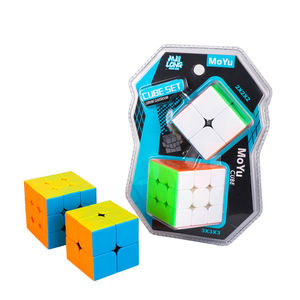 Cuberspeed Bundle 2 pcs Moyu Meilong 3x3x3 2x2x2 stickerless Speed Cube Cubing ห้องเรียน Meilong Magic Cube CE สำหรับขาย