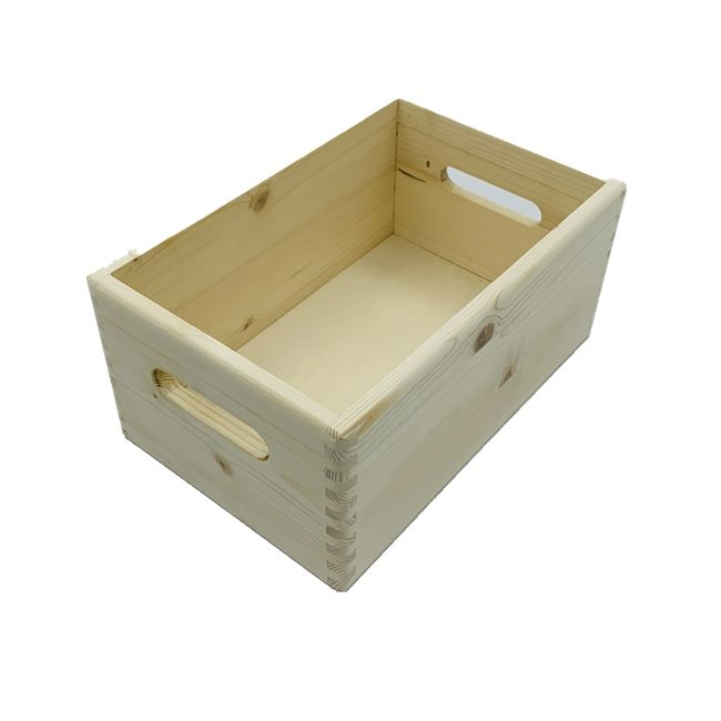 Cheap craft Wooden Boxes without lid no lid open top crate box for bottles