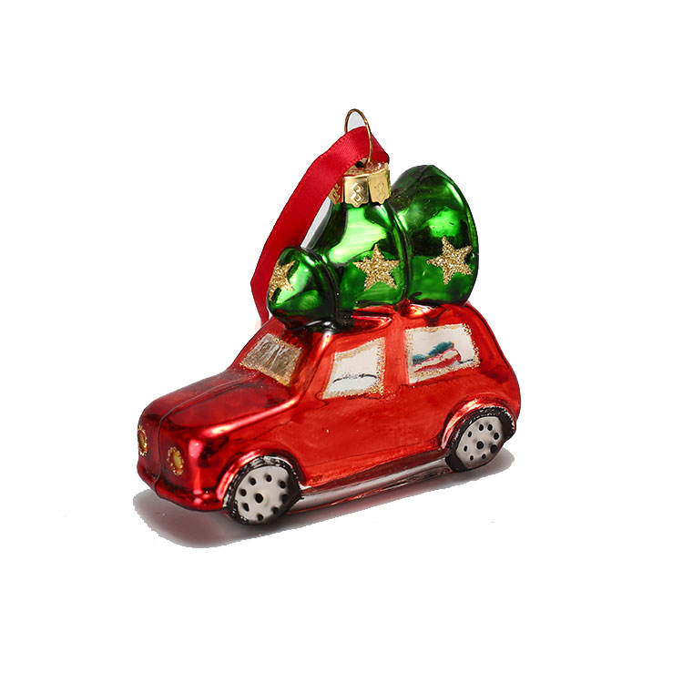 Blown Glass Ornament Factory Wholesale Blown Christmas Tree Hanging Decorative Glass Car Ornaments