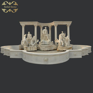 Full size replicated large outdoor white marble Trevi Fountain ready for ship