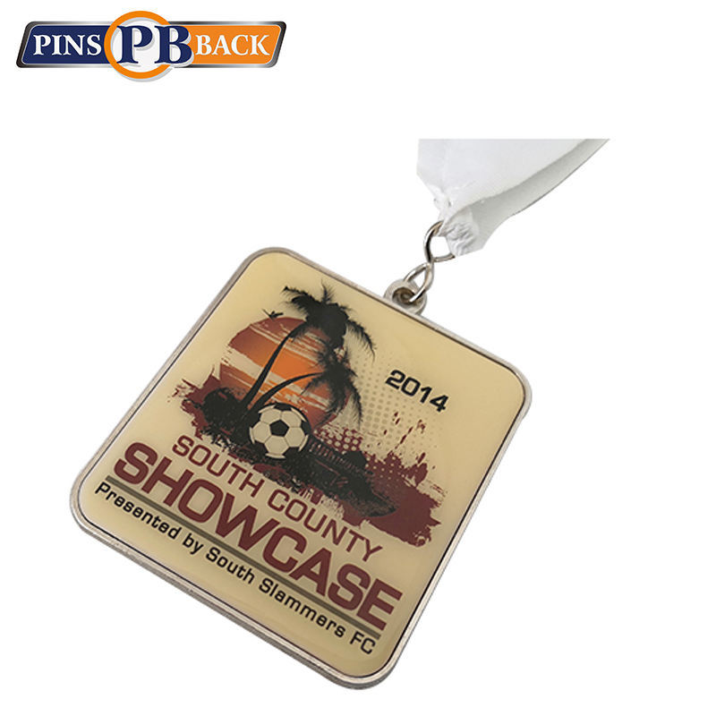 Folk art custom football soccer entertaining cheap custom miniature medal