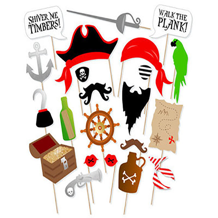 22 sets van piraat kapitein Foto Props sailor papegaai's schat kaart kompas hoofdband <span class=keywords><strong>party</strong></span> decoratie