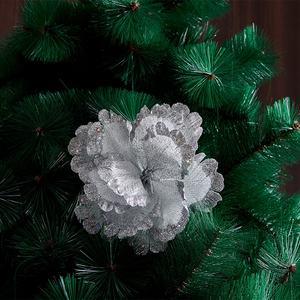 منتج جديد زينة داخلية زهور فضية بيضاء عالية الجودة عطلة الزفاف الديكور