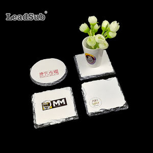 Leadsub Wholesale handmade personalized eco-friendly custom slate blank coaster with sublimation print