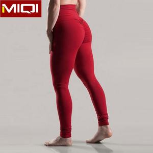 Wholesale Fitness Clothing Womens Butt Lift Yoga Pants High Waist Compression Tights Custom Scrunch Butt Leggings