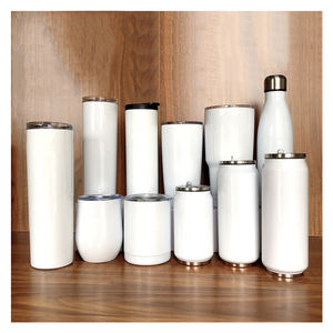 blank sublimation stainless steel skinny tumblers 20 oz double wall insulated straight white water tumbler wine tumbler