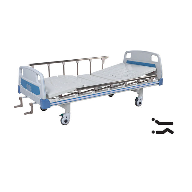 ABS Headboard 2 Crank Double Function Manual Hospital Medical Bed