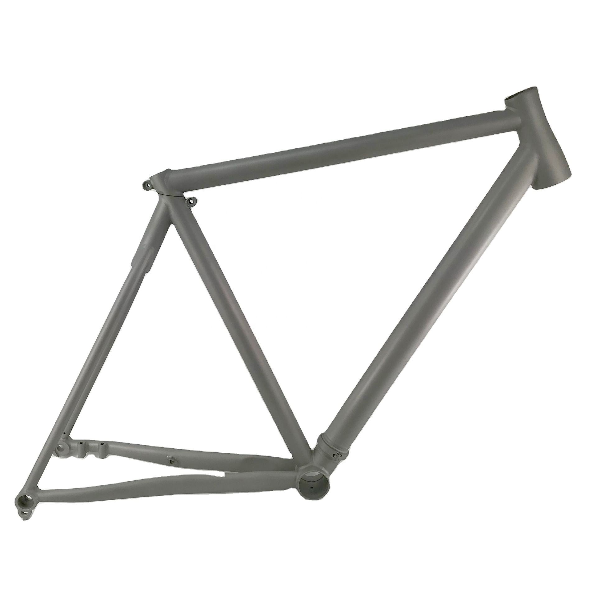 Gravel bicycle Titanium road bike frame with the breakaway system