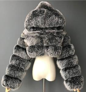 Hot Selling Wholesale Hood Short Ladies Fake Fur Jacket Coat Women Winter Fox Faux Fur Coat