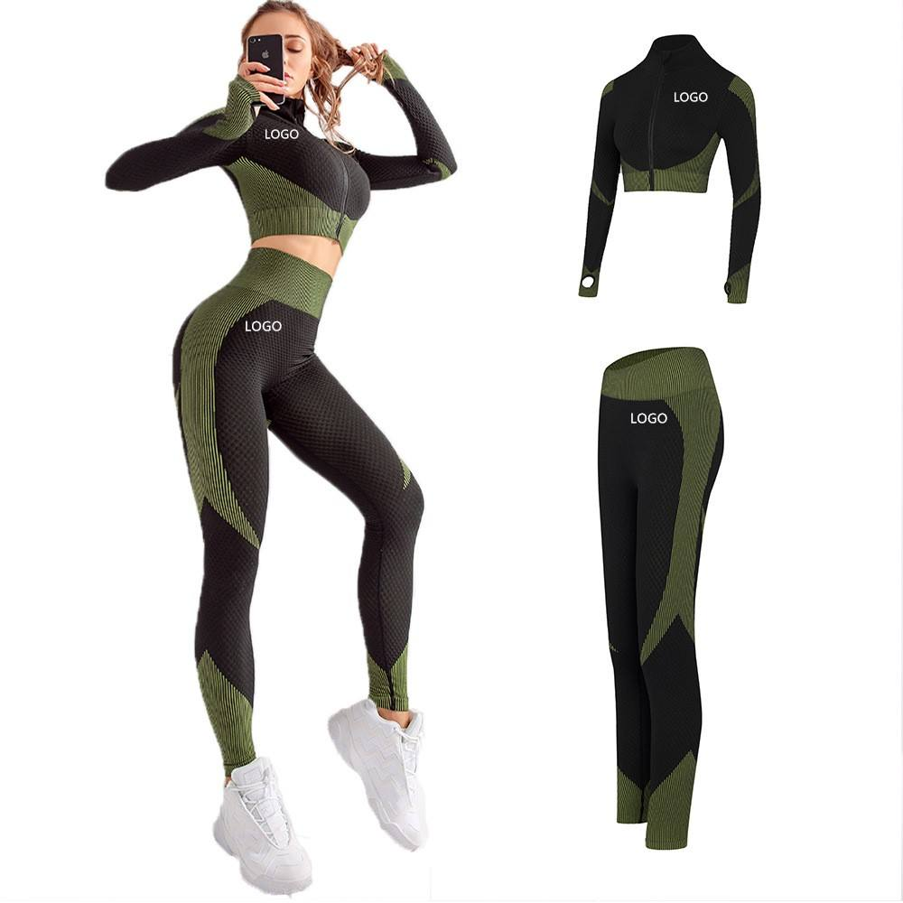 New Listing gym clothing for women two piece yoga set With New Stream Athletic Apparel