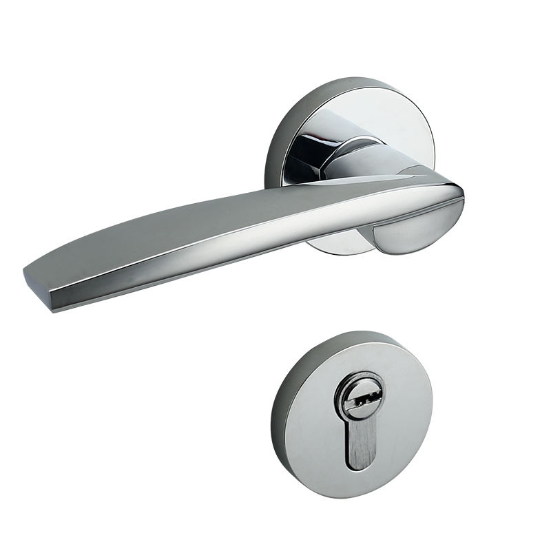 Delicate modern zinc home hardware bedroom door lever handle