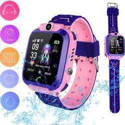 2019 hot selling child gps wtatch Q12 kids Smart Watch with IP67 waterproof SOS camera cell phone  clock for kids