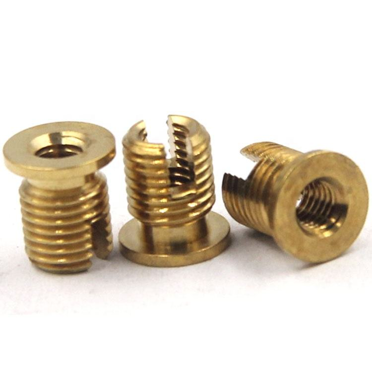 Slotted brass screw Through hole slotted thread screw